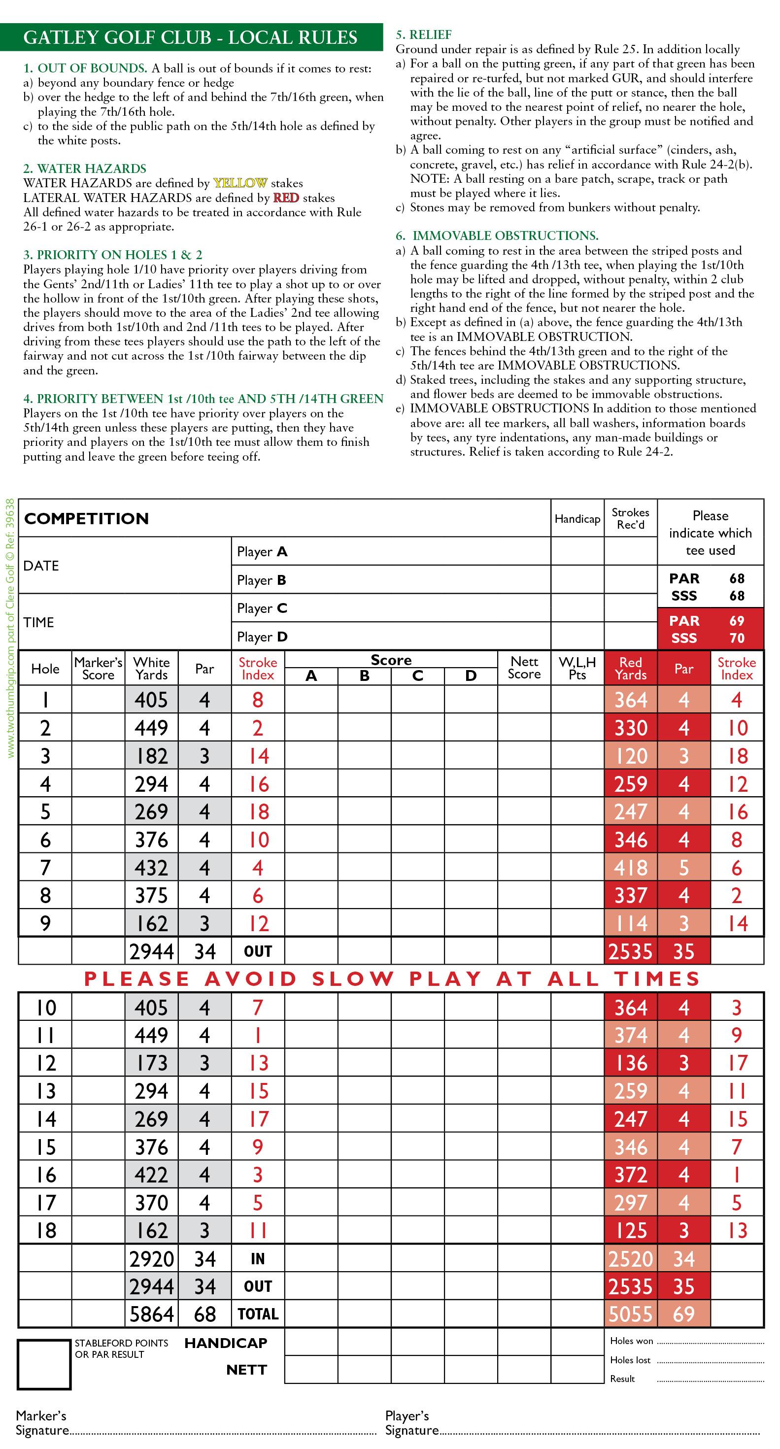39638 Gatley GC 6pp Scorecard2